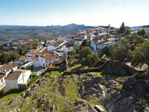 Monsaraz 1. A small town of monsaraz, alentejo - portugal, view down from the fort and into the distance Stock Photos
