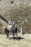 MONSARAZ - APRIL 06: Horse training in Alentejo Town of Monsaraz Stock Image
