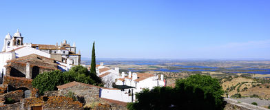Monsaraz Castle Village, Alqueva Lake, Alentejo Landscape Royalty Free Stock Photo