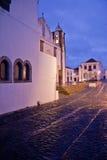 Monsaraz at dusk a rainy day Royalty Free Stock Image