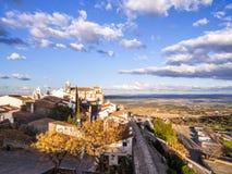 Monsaraz i den Alentejo regionen, Portugal Arkivbild