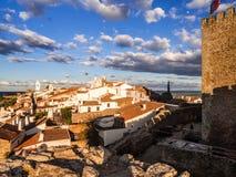 Monsaraz i den Alentejo regionen, Portugal Arkivfoton