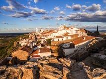 Monsaraz i den Alentejo regionen, Portugal Arkivfoto