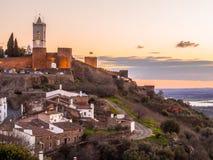 Monsaraz i den Alentejo regionen, Portugal Royaltyfri Foto