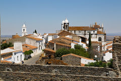 Monsaraz - 06. The Medieval Fortress of Monsaraz with the typical white narrow streets Stock Photos