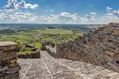 Monsaraz, medieval  road to the  fortress and the city Mon Stock Photography