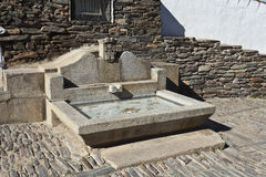 Monsaraz, stone made fountain Royalty Free Stock Image