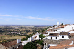 Castle View - Picturesque Village, Monsarraz - Alentejo Plain, South Portugal Landscape Royalty Free Stock Photography