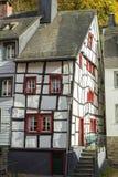 Monschau in Eifel als Oude Stad Stock Afbeelding