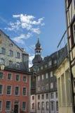 Monschau in Eifel als Oude Stad Stock Afbeeldingen