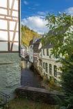 Monschau in Eifel als Oude Stad Stock Foto's