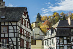 Monschau in Eifel als Oude Stad Royalty-vrije Stock Afbeelding