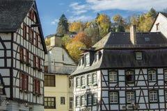 Monschau in Eifel als Oude Stad Stock Fotografie