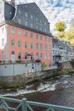Monschau in Eifel als Oude Stad Royalty-vrije Stock Foto's