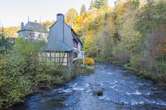 Monschau in Eifel as Old Town Royalty Free Stock Image