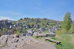 Monschau, Eifel-gebied, Duitsland Royalty-vrije Stock Foto's