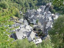 Monschau, Germany - August 12, 2018 City impression stock photos