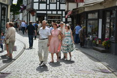 Monschau in Germany with tourists Stock Image