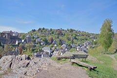 Monschau, regione di Eifel, Germania Fotografie Stock Libere da Diritti