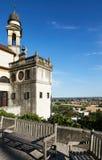 Monselice, Italië - Juli 13, 2017: Mening van Villa Dudo en de Kerk van St George Stock Afbeeldingen