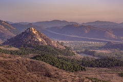 Monserate山景在Fallbrook加利福尼亚 免版税图库摄影