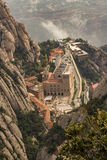 The Monserrat Abby. On the outskirts of Barcelona Spain Royalty Free Stock Images