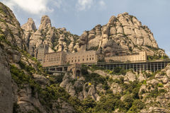 The Monserrat Abby. On the outskirts of Barcelona Spain Royalty Free Stock Image