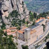 Monserrat Monastery, Espanha imagens de stock