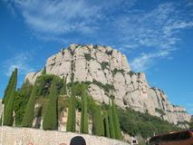 Monserrat Mountain Catalonia Spain imagen de archivo libre de regalías
