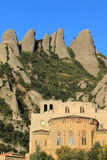 Monserrat peaks and abbey Stock Photo
