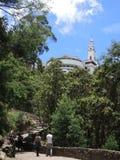 Monserrate在波哥大,哥伦比亚。 库存图片