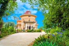 Monserrate宫殿在辛特拉,葡萄牙 免版税图库摄影