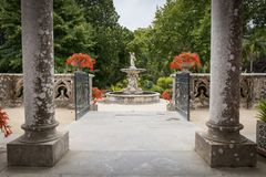Monserrate宫殿的庭院在辛特拉 图库摄影