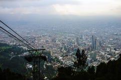 从Monserrate小山, Bogot,哥伦比亚的看法 库存照片
