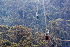 Monserrate Aerial Tramway Stock Photography