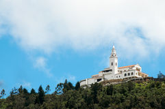 Monserrate Church. High in the Andes mountains Royalty Free Stock Image