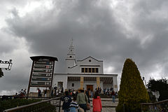 Monserrate Church. Picture of the Monserrate Church in Bogotá Colombia royalty free stock image