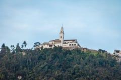 Monserrate kyrka - Bogota, Colombia arkivbild