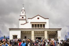 The Monserrate Monastary in Bogota Colombia Royalty Free Stock Photography