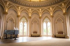 Piano room in Monserrate Palace royalty free stock photo