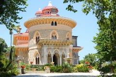 Monserrate slott i Sintra, Portugal Fotografering för Bildbyråer