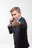 Monsieur d'adolescent de garçon dans un costume Images stock