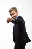 Monsieur d'adolescent de garçon dans un costume Photo libre de droits