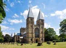 Monsieur de Southwell et cathédrale romane photographie stock libre de droits