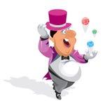 Monsieur heureux jouant le loto. Images libres de droits