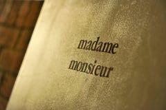 monsieur madame Стоковая Фотография RF