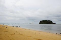 Monsone sulla spiaggia del Libong del KOH Fotografie Stock Libere da Diritti