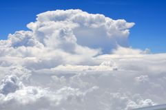 Monsoon clouds stock image