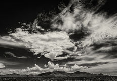 Monsoon Clouds in Arizona, USA. Scary cloud buildup in sky during monsoon season in Arizona Stock Photos