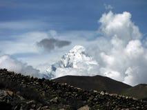Monsoon Clouds before Daulagiri Himalayan Giant Stock Photo